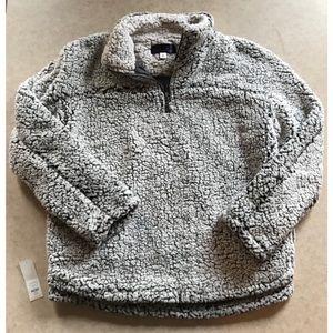 Francesca's Sherpa Quarter Zip Pullover - Size L